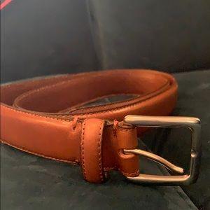Jcrew Men's Stitched edge Belt Dark Caramel